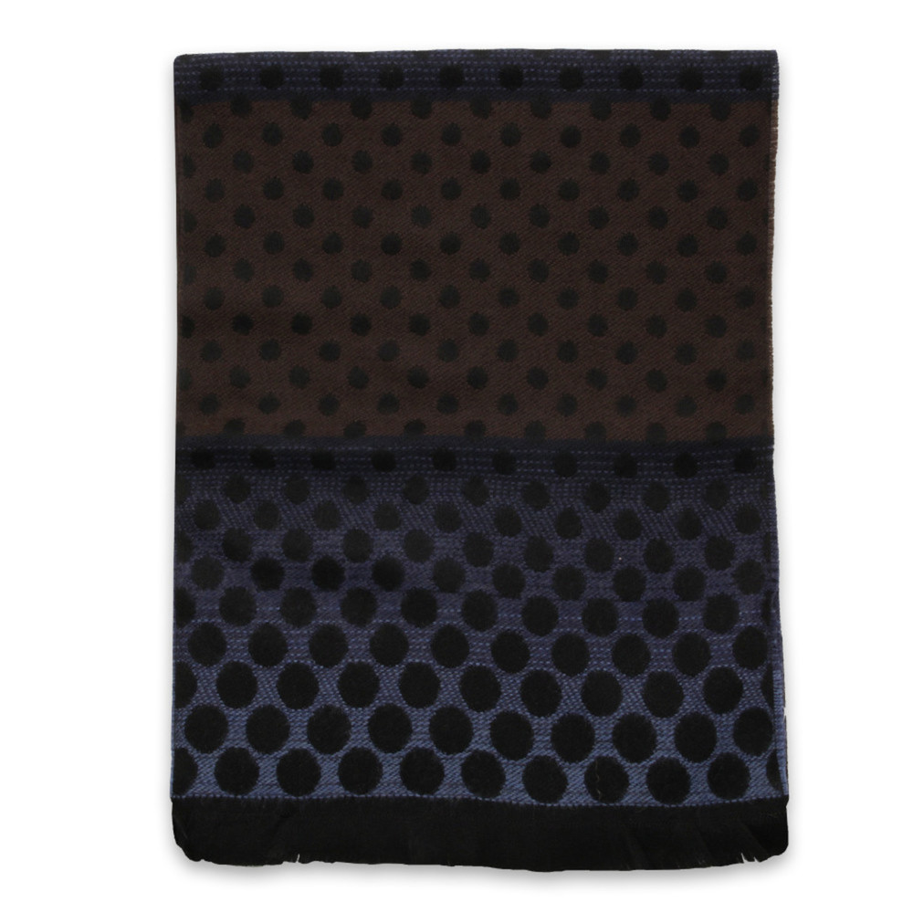 Woolen scarf with black dots 10032