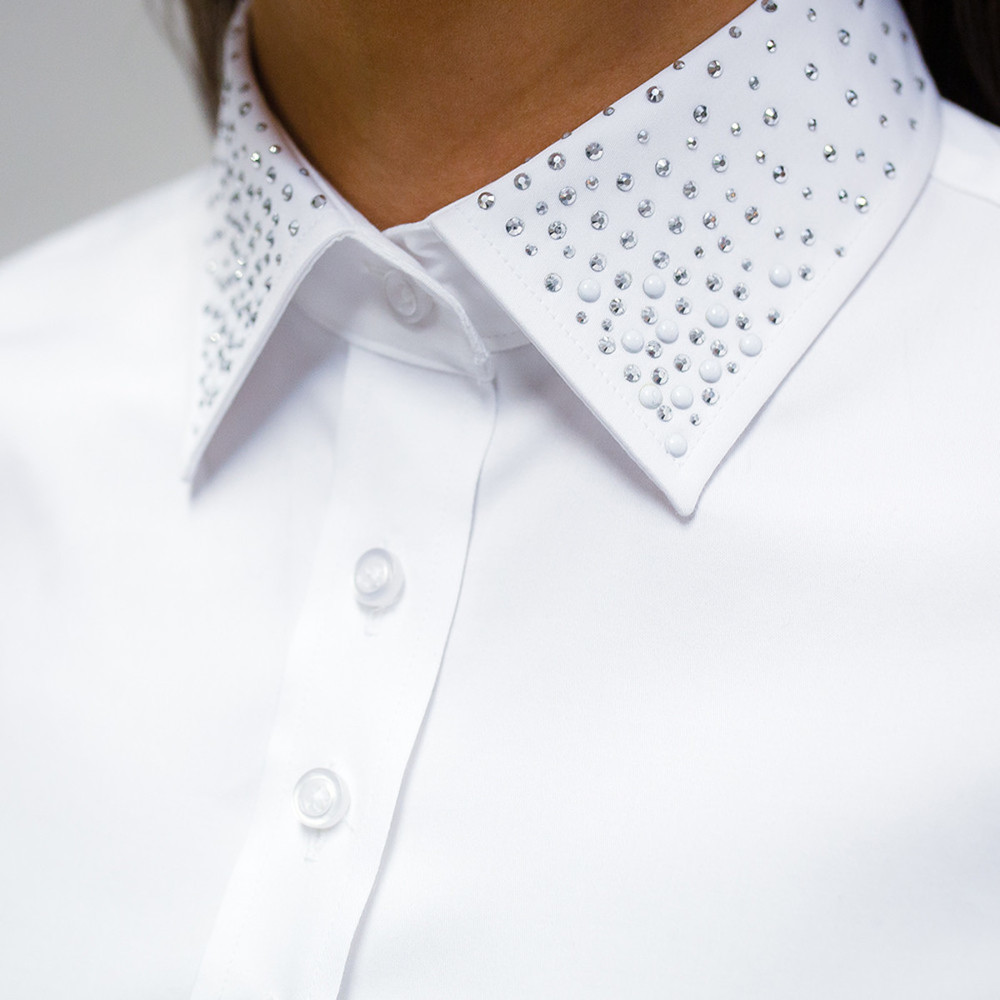 Women's shirt with decorative collar 10121