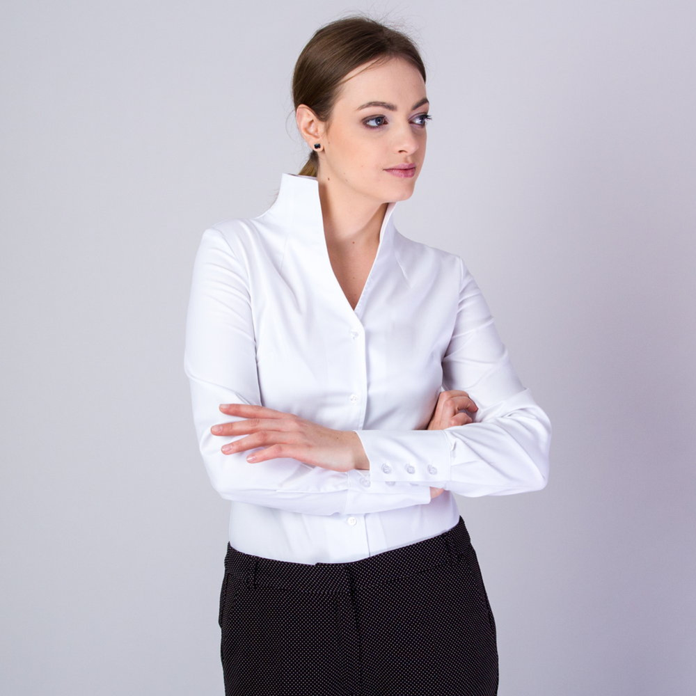 Women's shirt in white Willsoor  10153