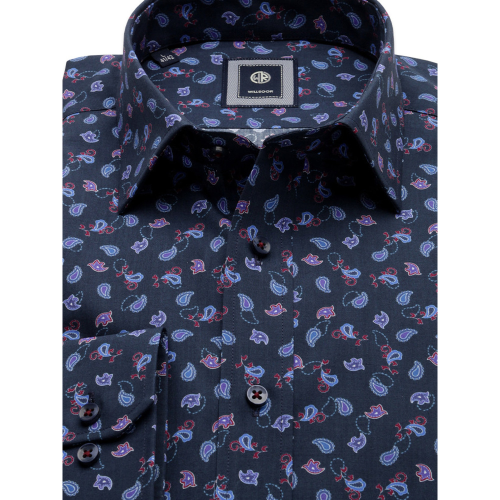 Slim Fit shirt with paisley pattern (height 176-182 and 188-194) 10155