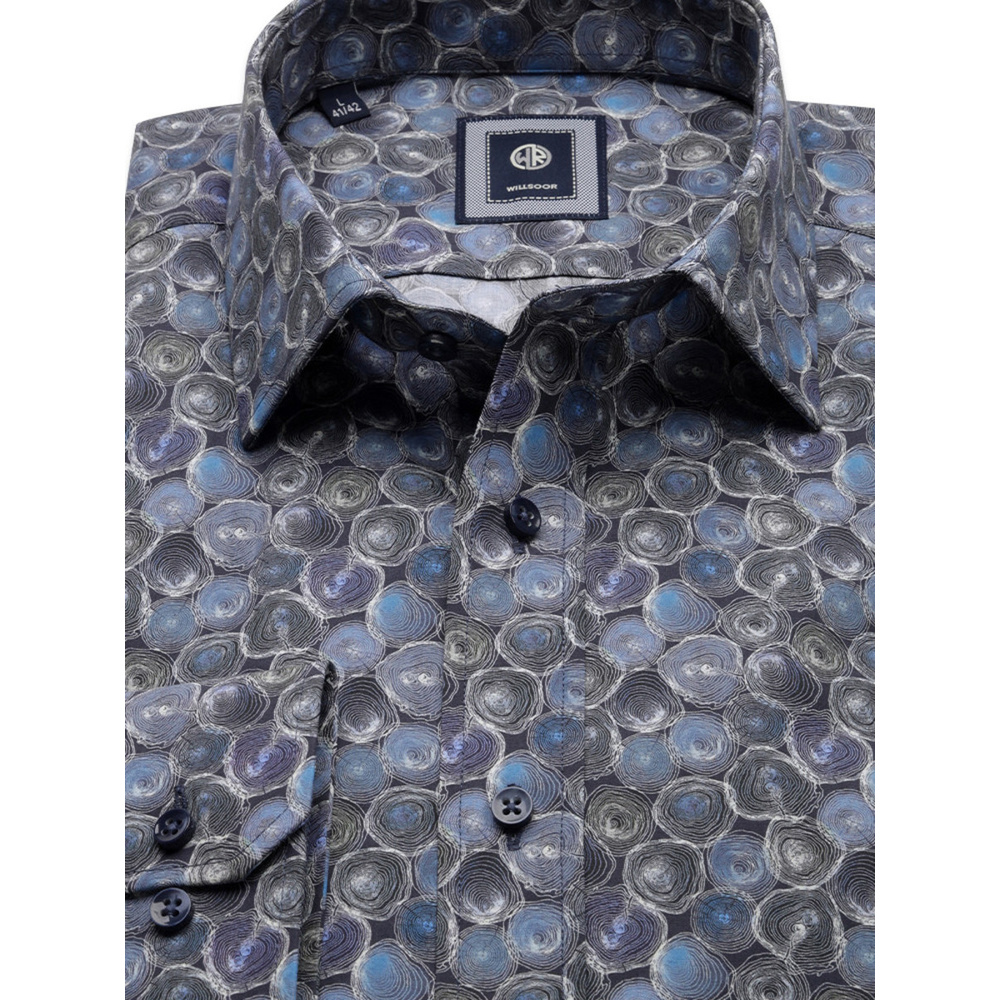 Slim Fit shirt with geometric pattern (height 176-182 and 188-194) 10156
