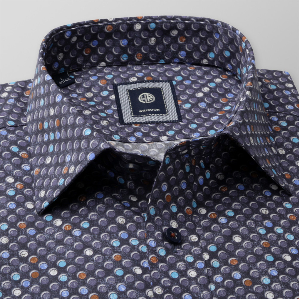 Slim Fit shirt with dots (height 176-182 and 188-194) 10157