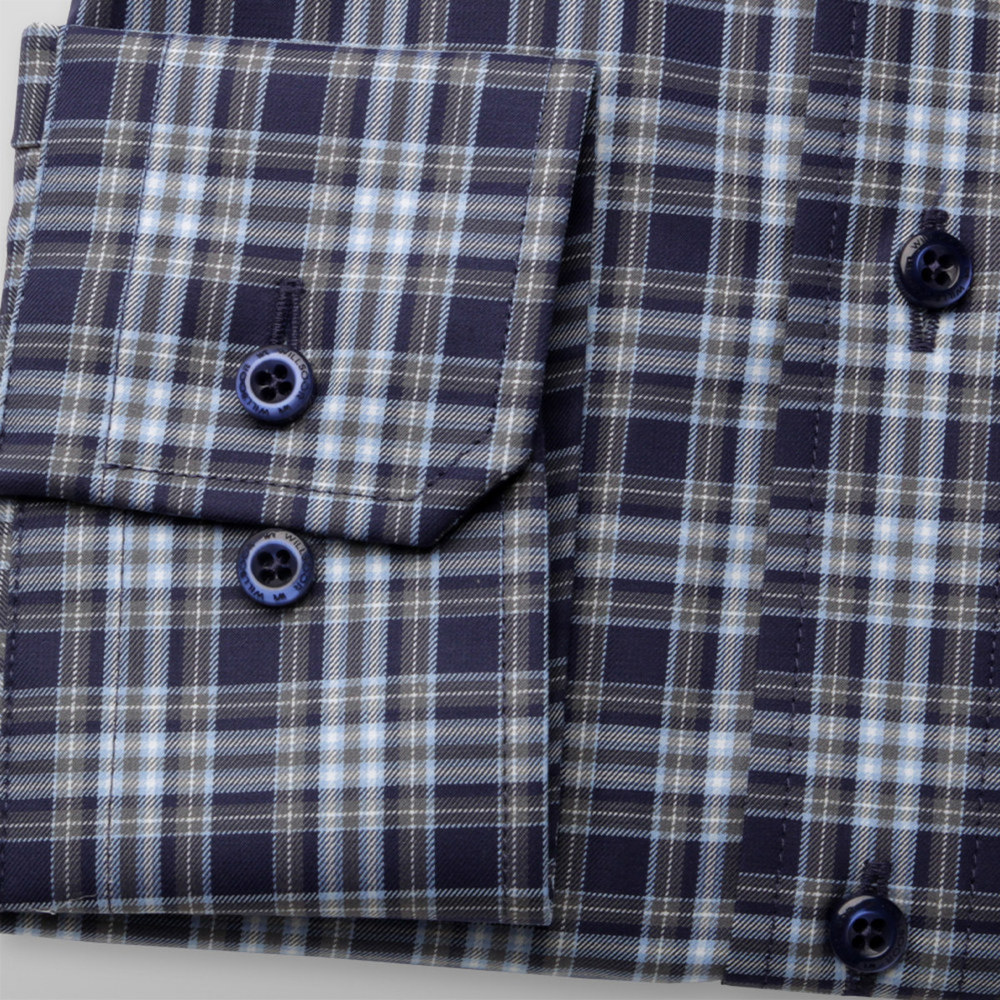 London shirt with check pattern (height 176-182) 10186
