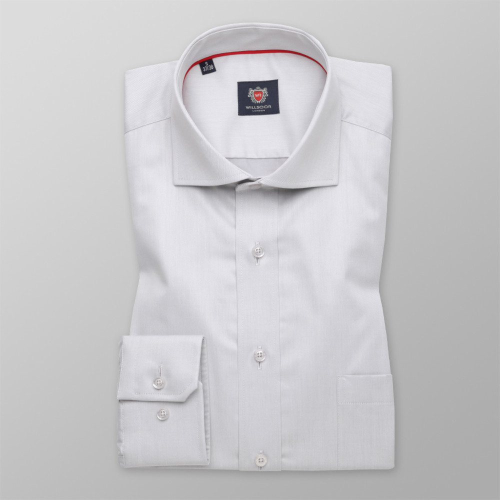 London shirt in light grey (height 176-182) 10194
