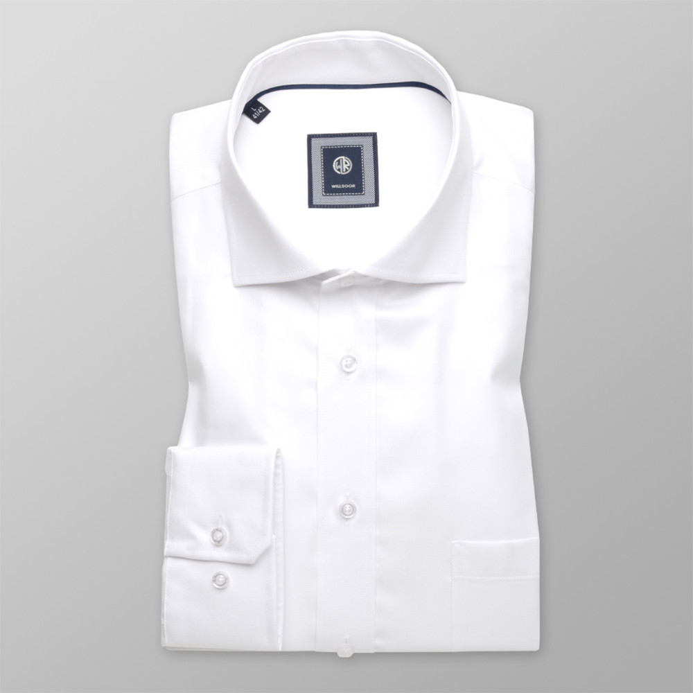 London shirt in white with smooth pattern (height 176-182 and 188-194) 10216