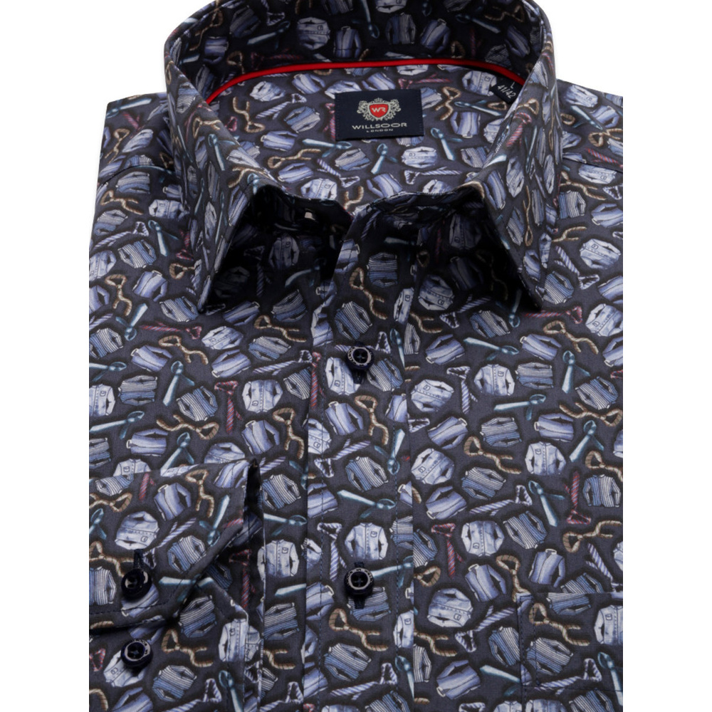London shirt with ties printing (height 176-182) 10241