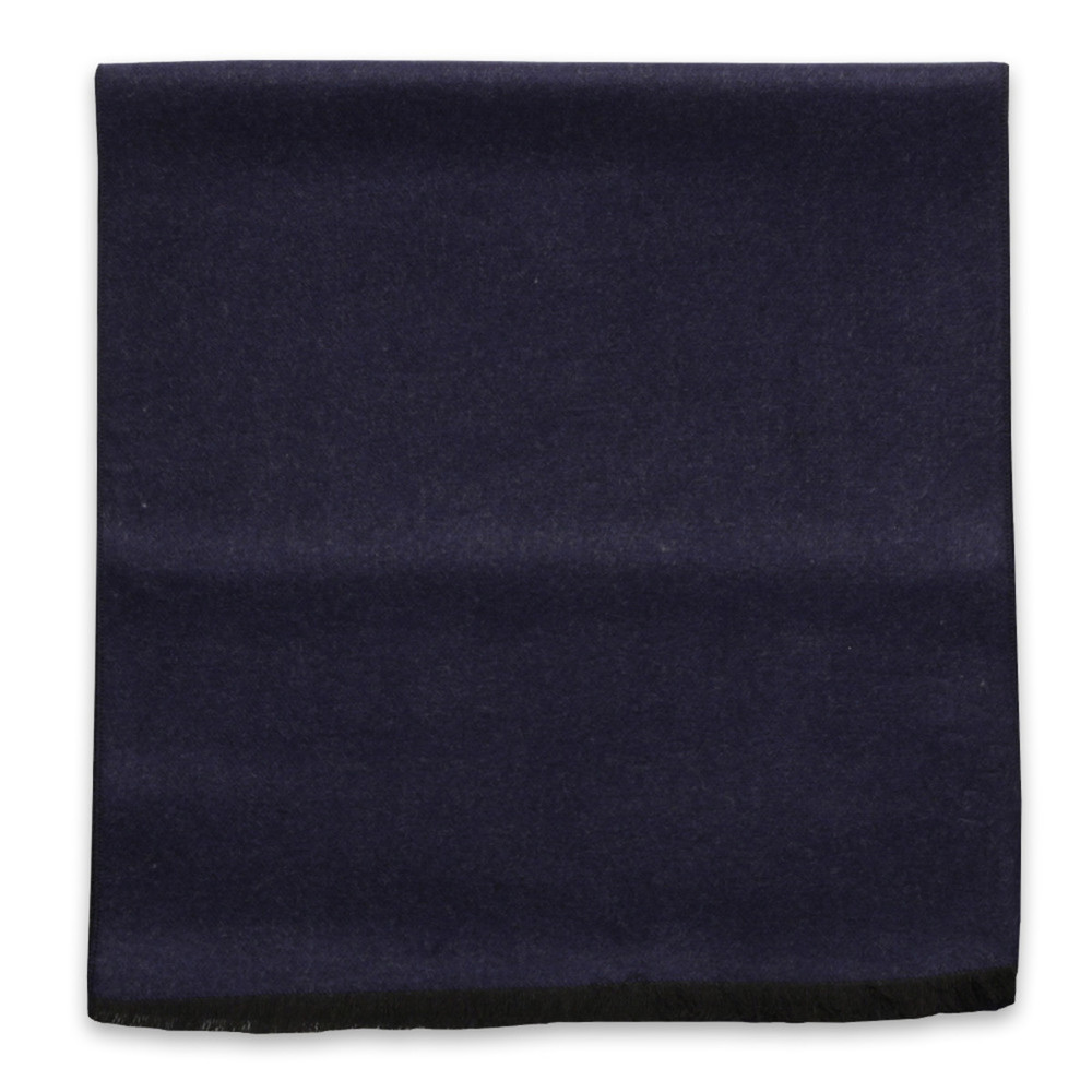 Dark blue scarf with smooth pattern  10248