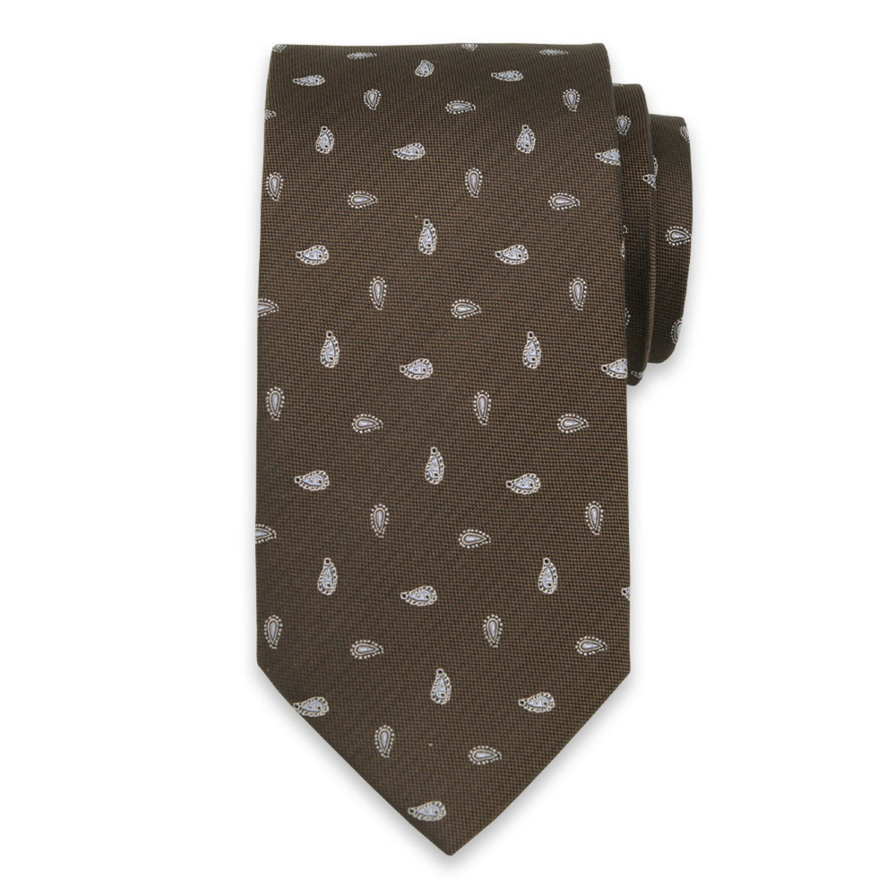 Silk tie with paisley pattern10314