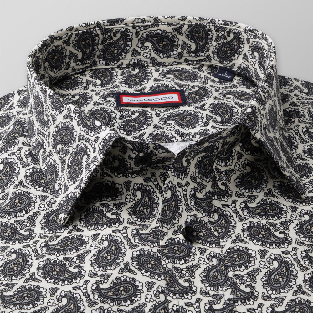 Slim Fit shirt with paisley pattern (height 176-182) 10414