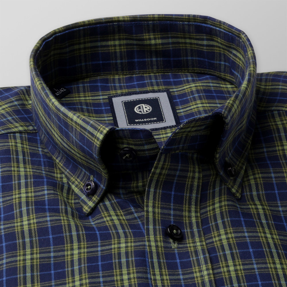 Slim Fit shirt with green check (height 176-182) 10438