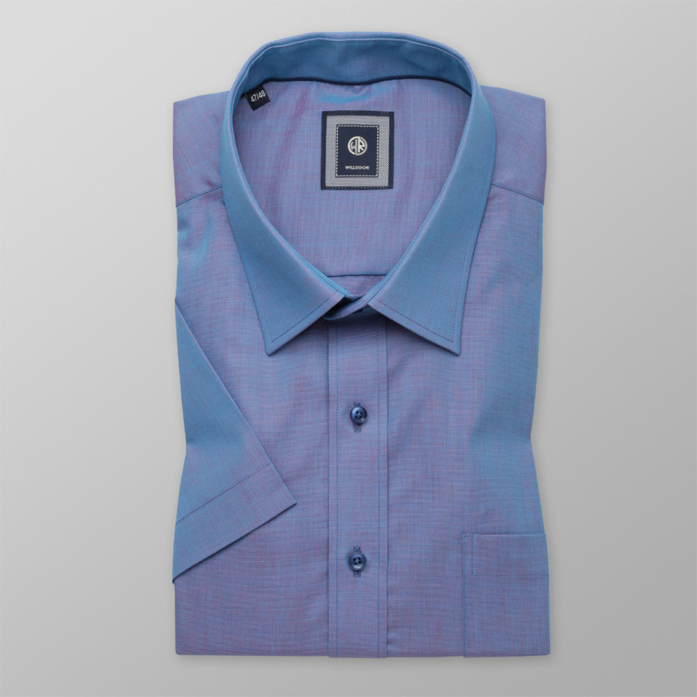 London shirt in light blue with shimmering effect (height 176-182) 10485