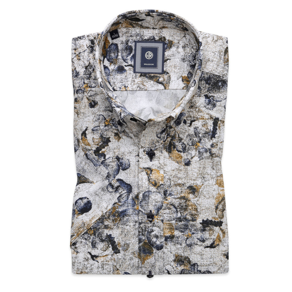 Slim Fit shirt with fine floral pattern (height 176-182) 10494