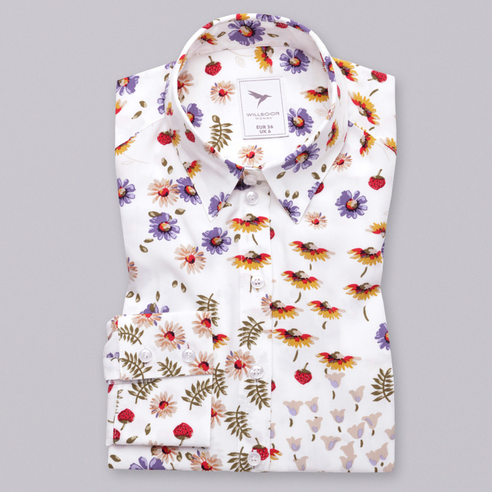 Women's shirt with flowers print 10555