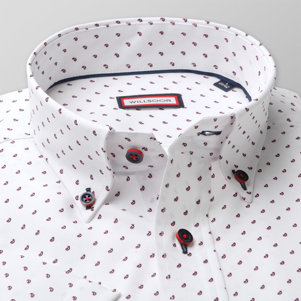 Slim Fit shirt with drops print (height 176-182) 10589