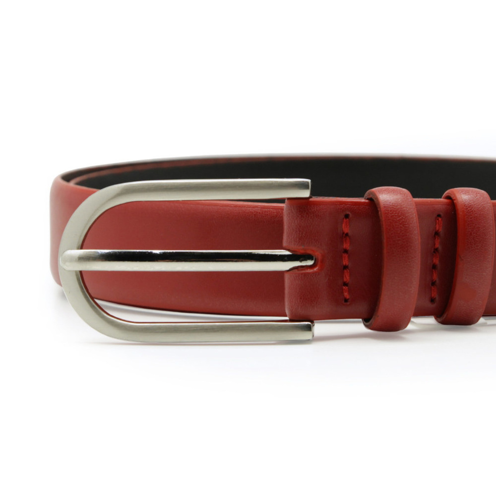 Women's leather belt red 10608