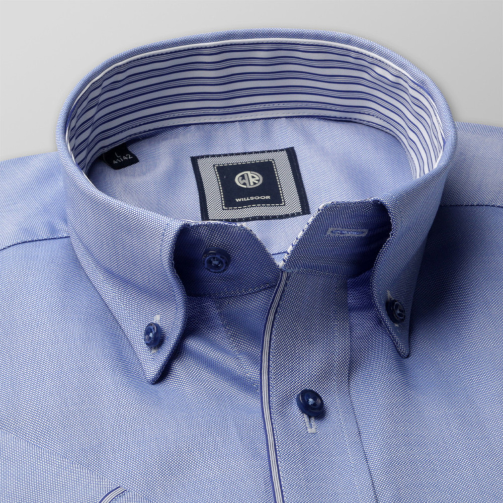 Slim Fit shirt in light blue color (height 176-182) 10704