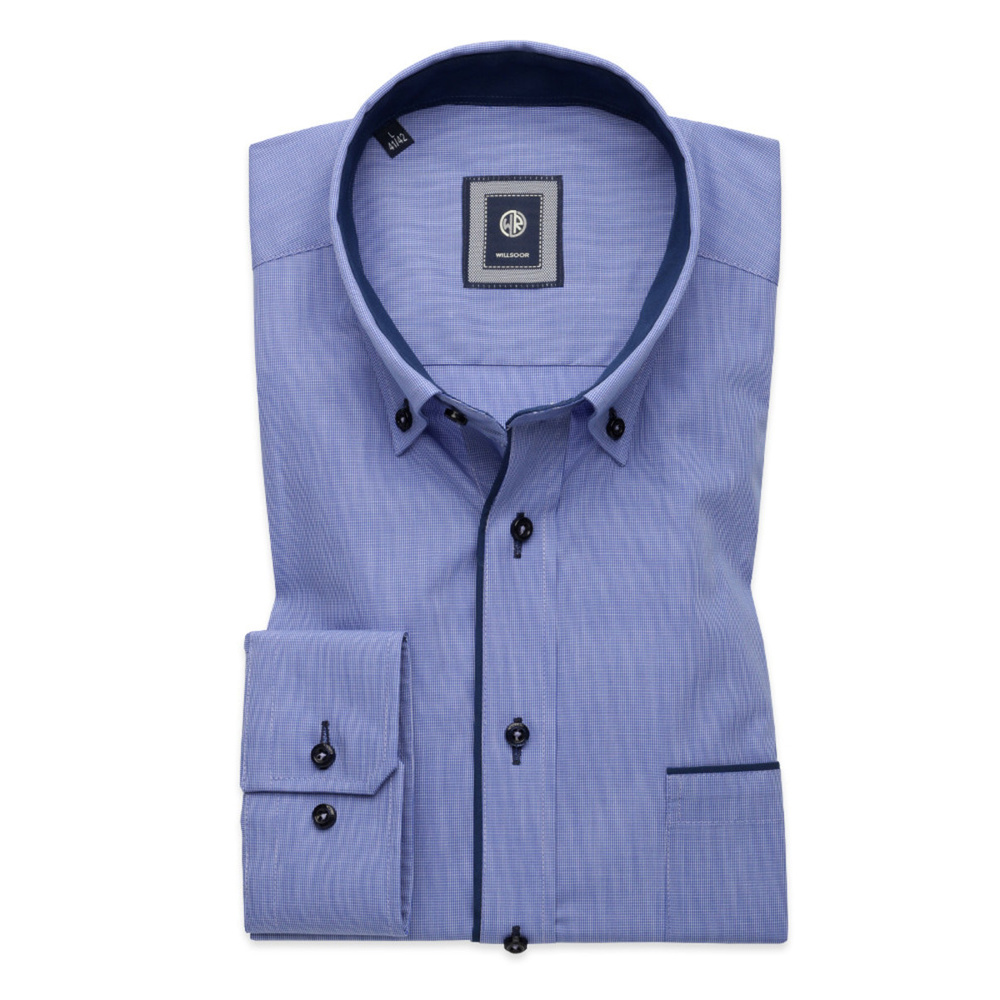Classic shirt with dark blue elements (height 176-182) 10729