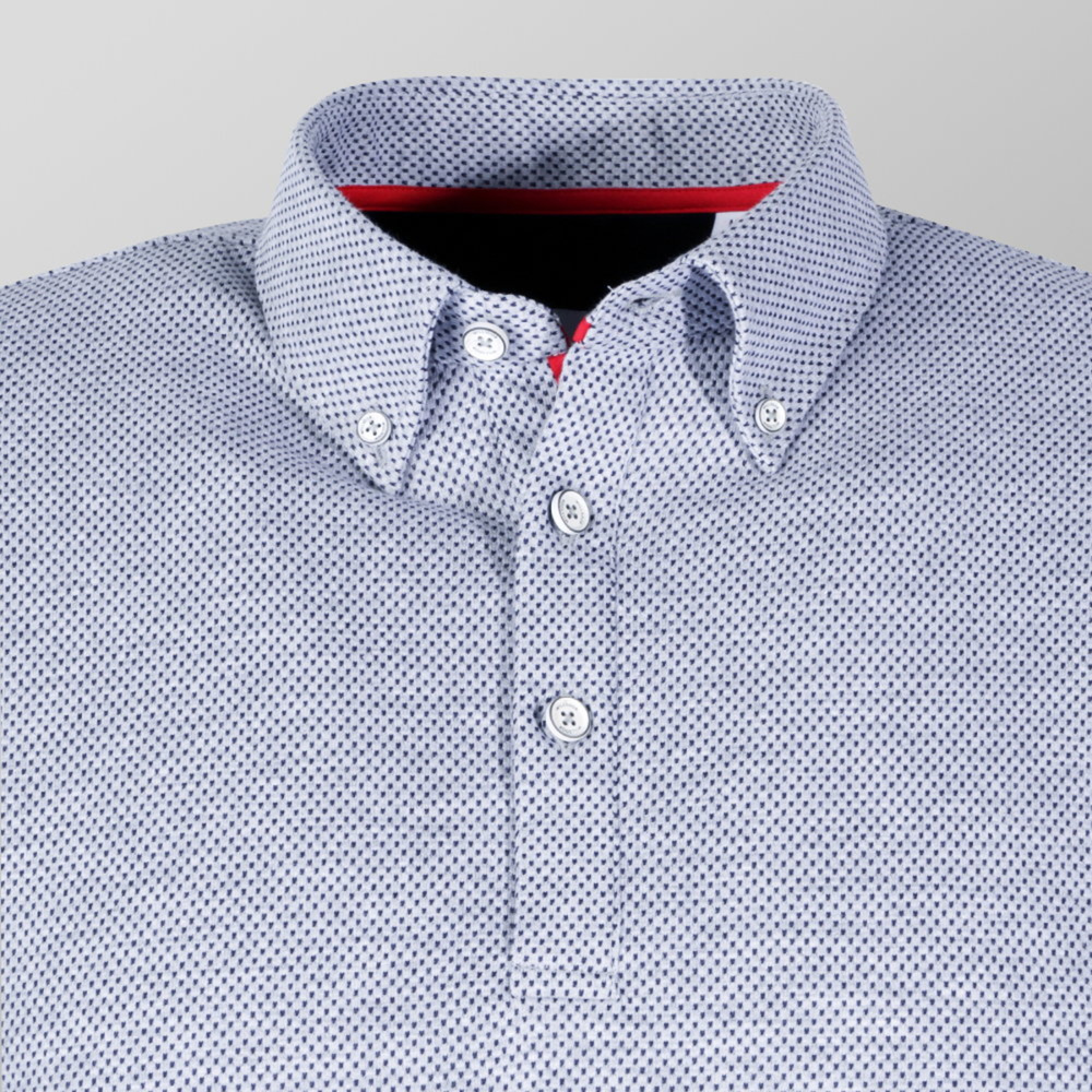 Men's polo t-shirt in grey color (size up to 5XL) 10747