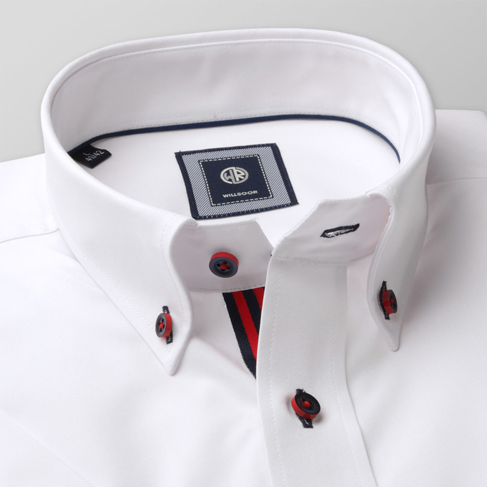 Slim Fit shirt in white color (height 176-182) 10757