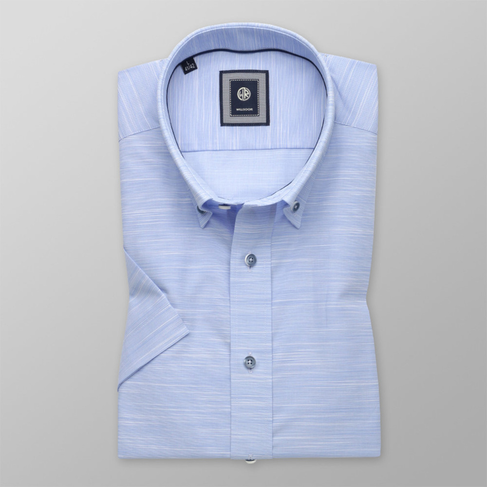 b51c5a0b19 Slim Fit shirt in pale blue with stripes (height 176-182) 10761 -  willsoor.eu