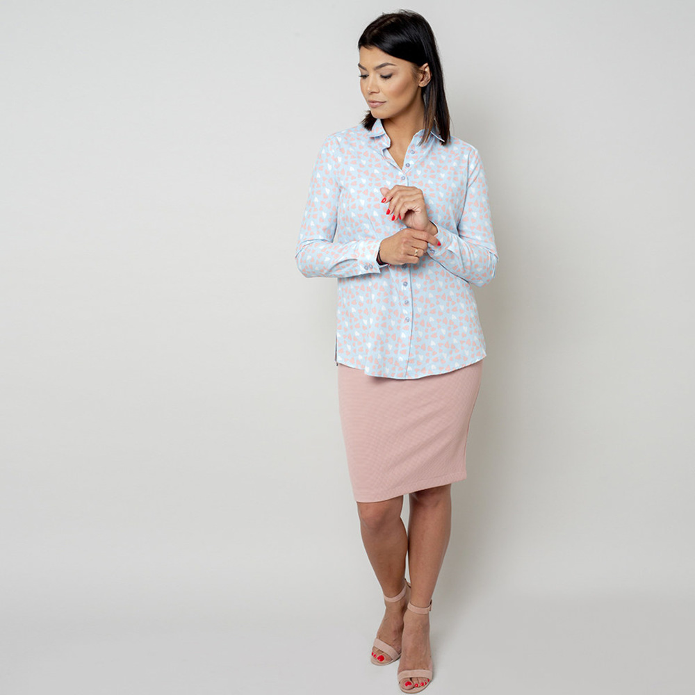 Women's shirt with hearts print 10766
