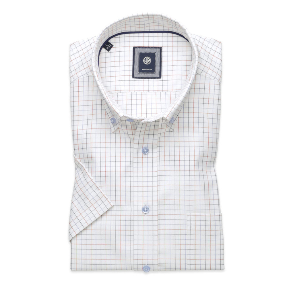 Classic shirt with fine check pattern (height 176-182) 10833