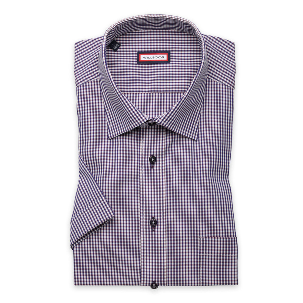 Slim Fit shirt with check pattern (height 176-182) 10840
