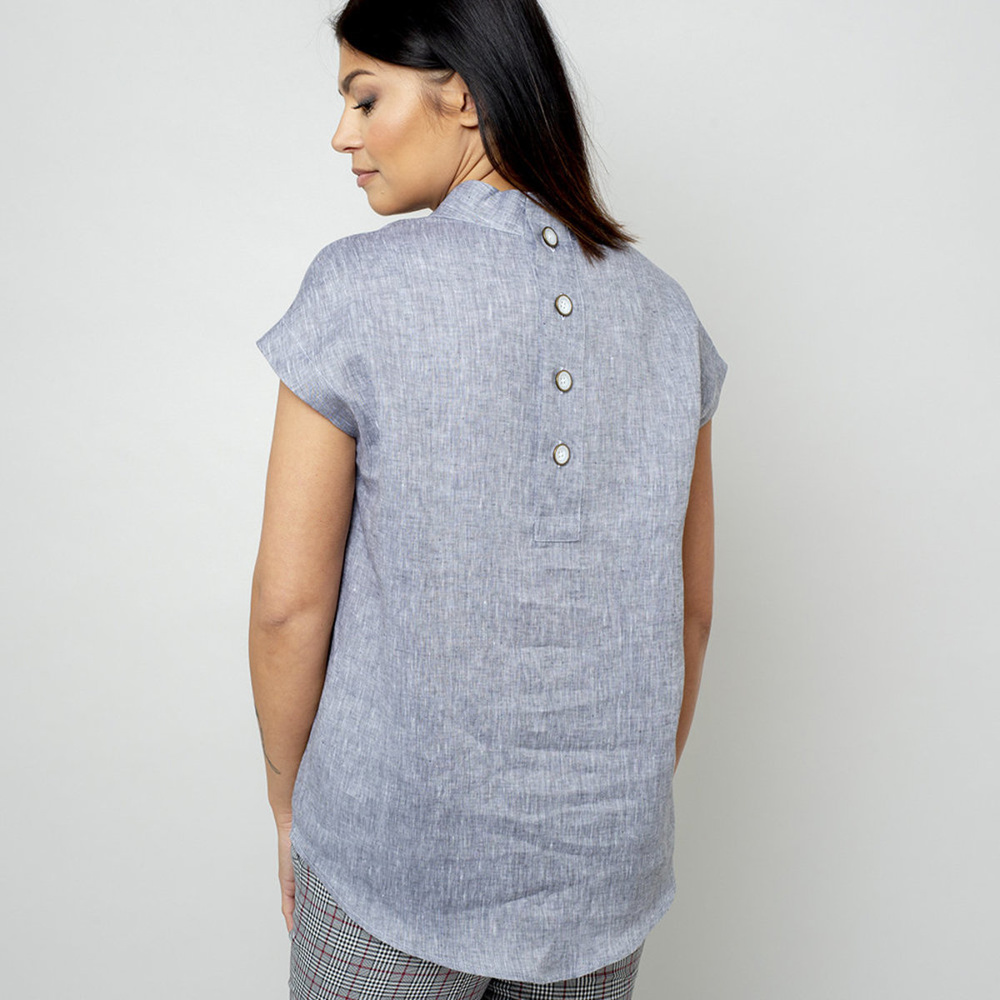 Women's blouse in grey color 10846