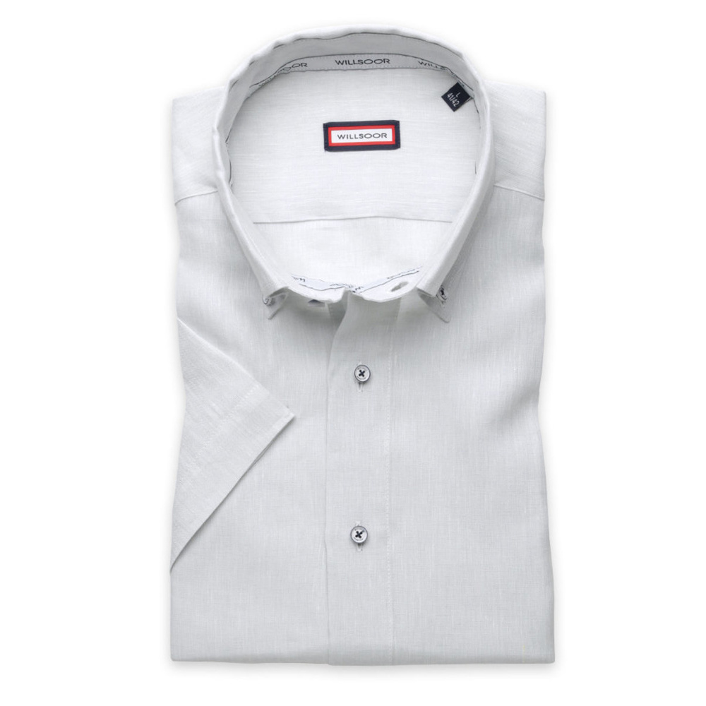 Slim Fit shirt in light grey color (height 176-182) 10868