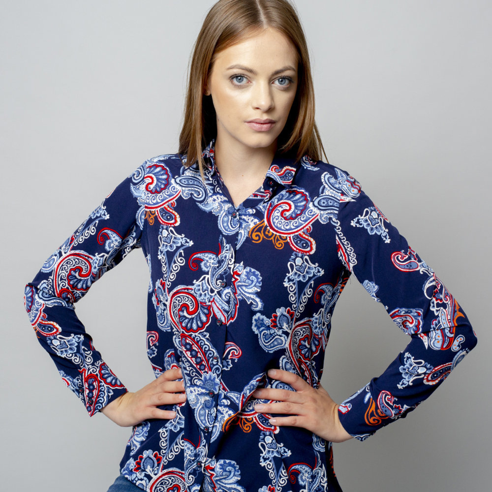 Women's shirt with colorfull paisley pattern  10903