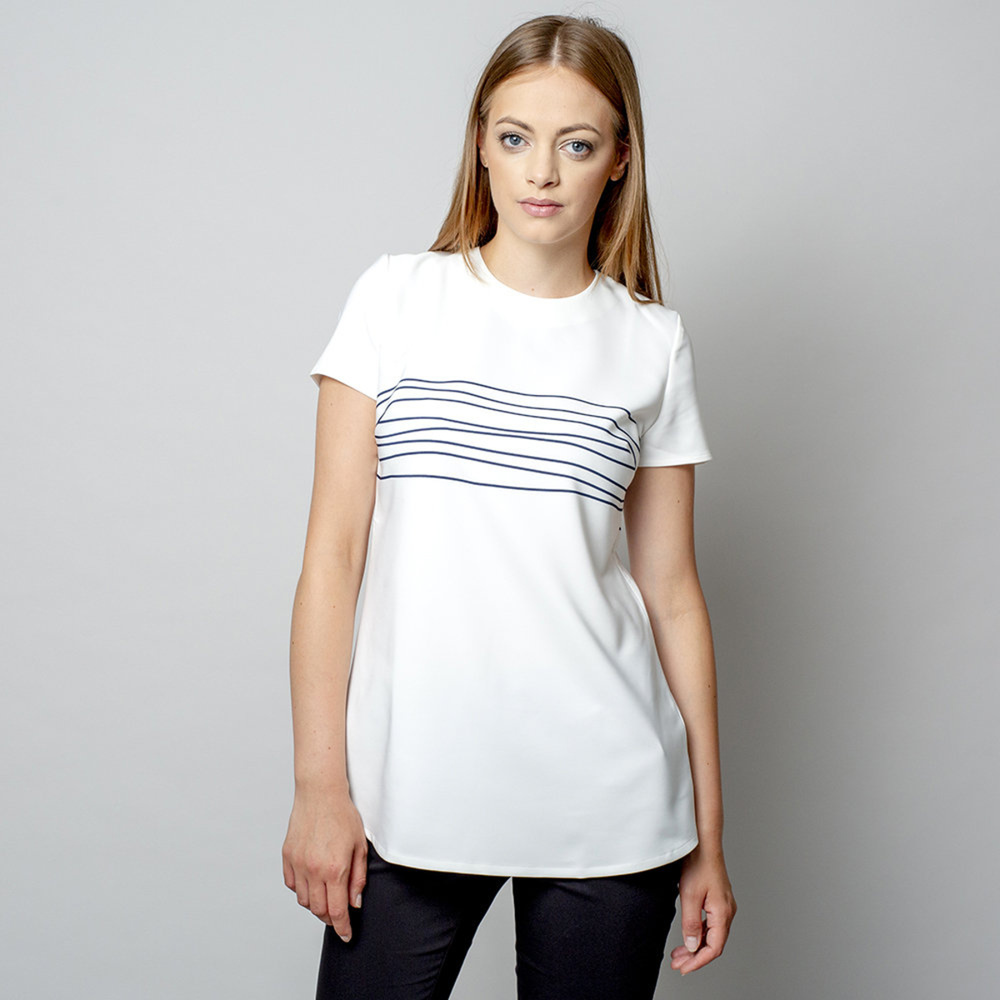 Women's t-shirt with striped print 10907