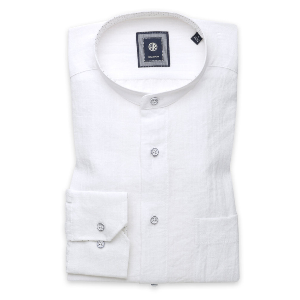 Slim fit shirt with linen addition (height 176-182) 10944