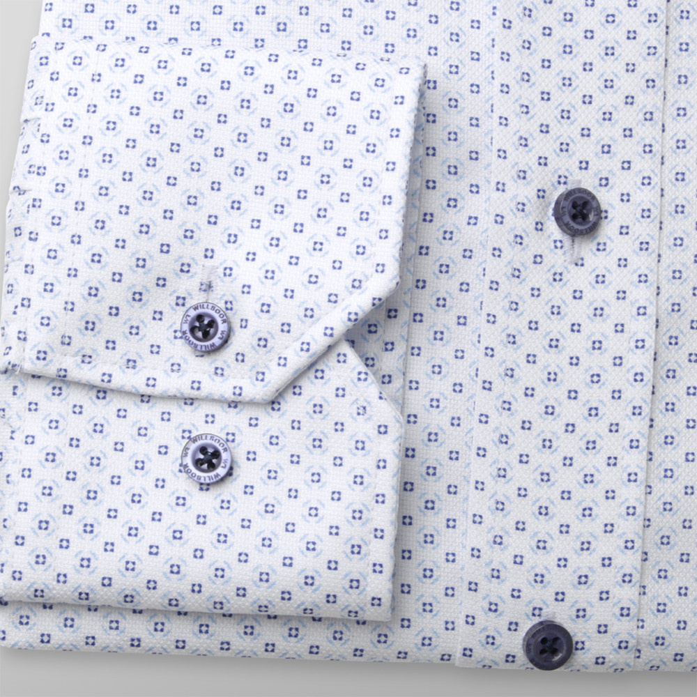 London shirt in white with fine pattern (height 176-182) 10980