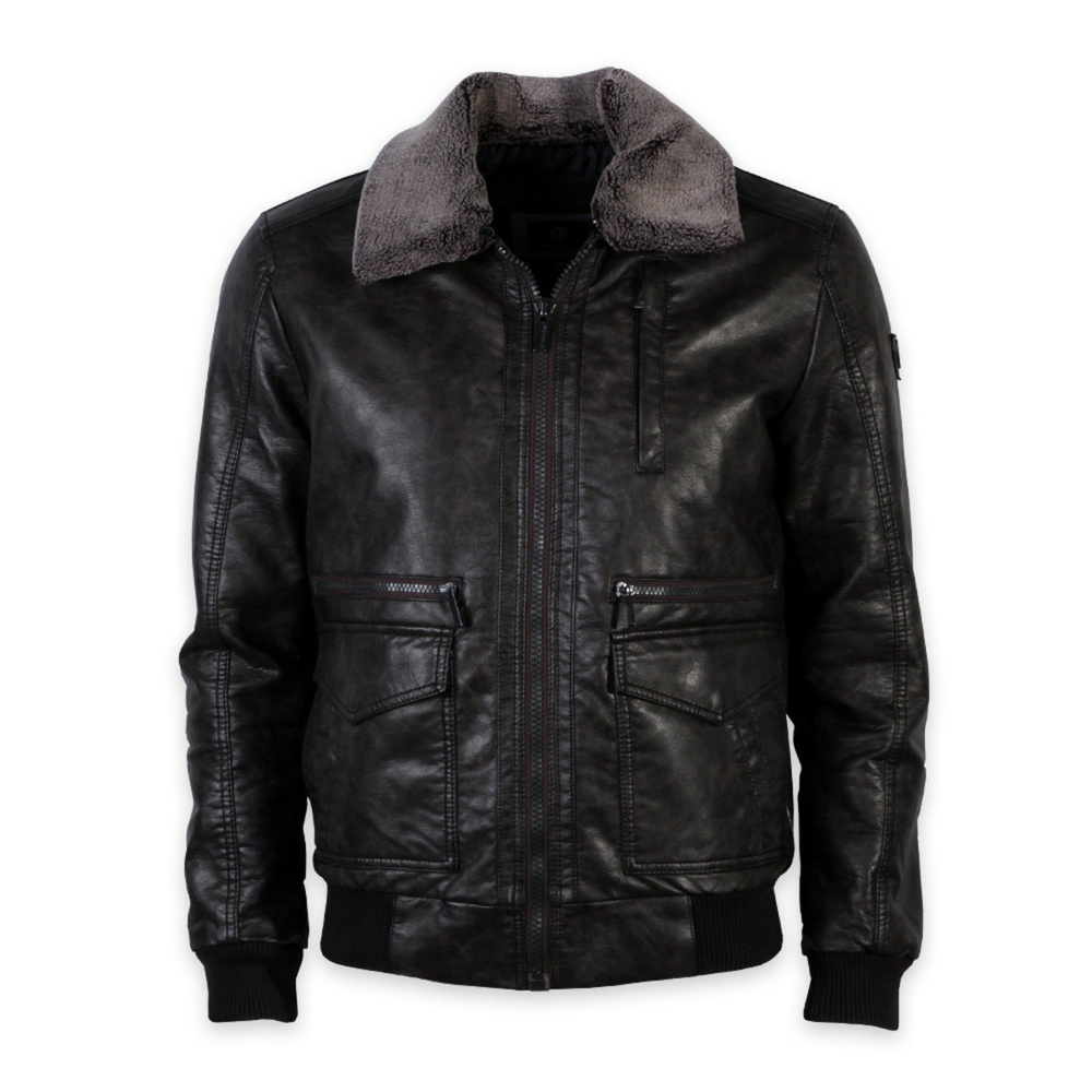 Eco leather jacket in brown Willsoor 11029