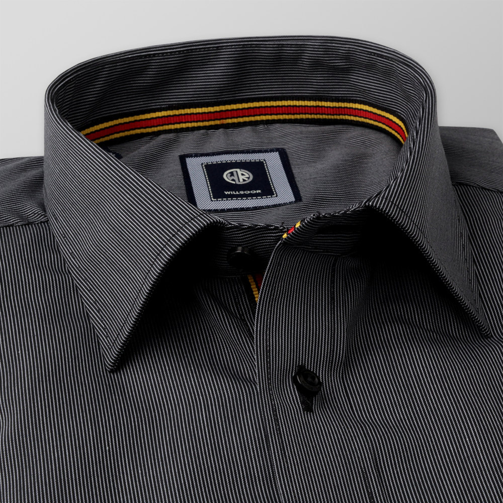 Classic shirt with dark grey pattern (height 176-182) 11034