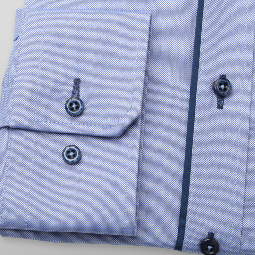 Slim Fit shirt with dark blue contrast elements (height 176-182 and 188-194) 11069