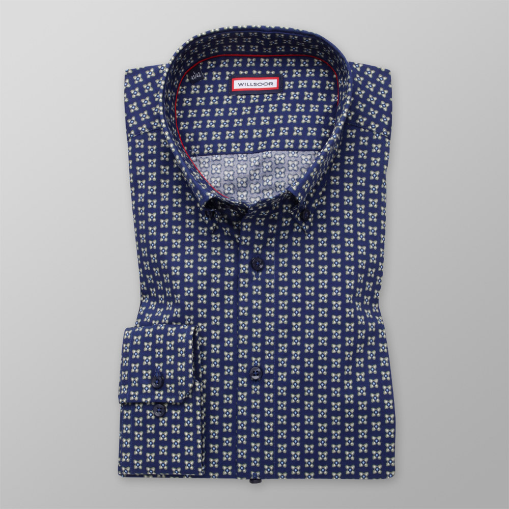 Men's Slim Fit shirt with floral print 11198