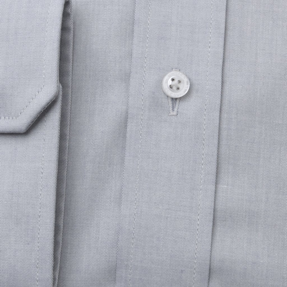 Men's classic shirt in grey with smooth pattern 11220
