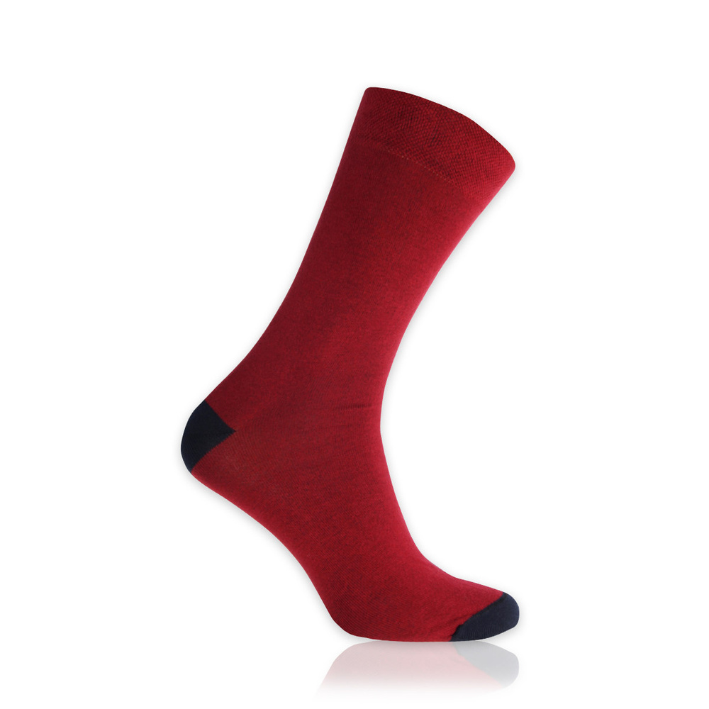 Men's socks in red 11261