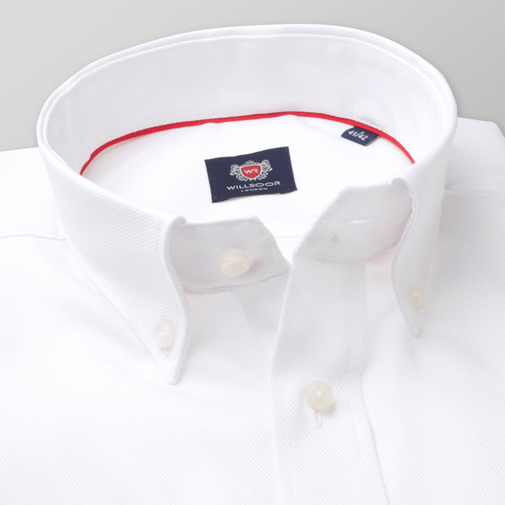 Men's classic shirt with smooth pattern 11341