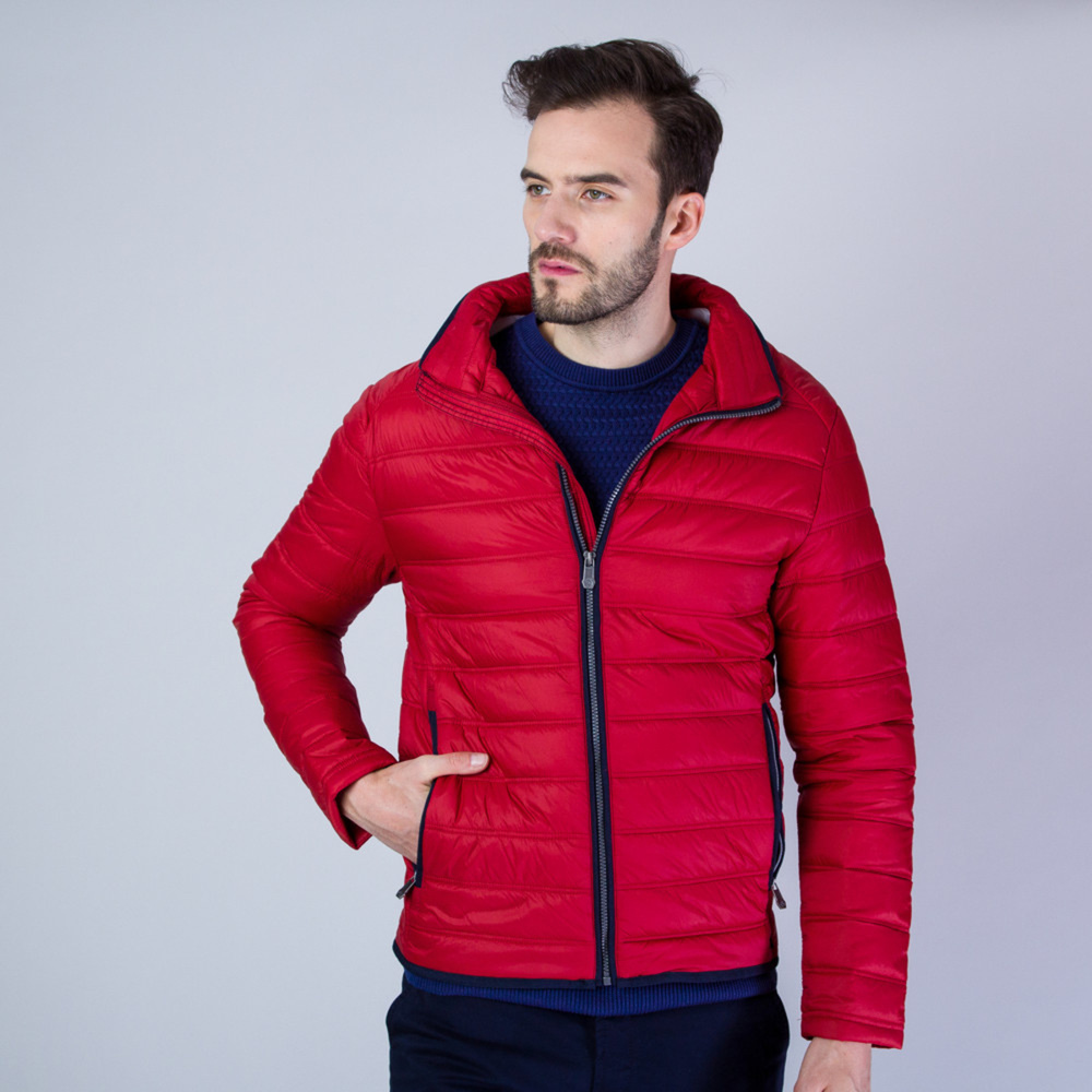 Men's quilted jacket in red Redpoint 11356