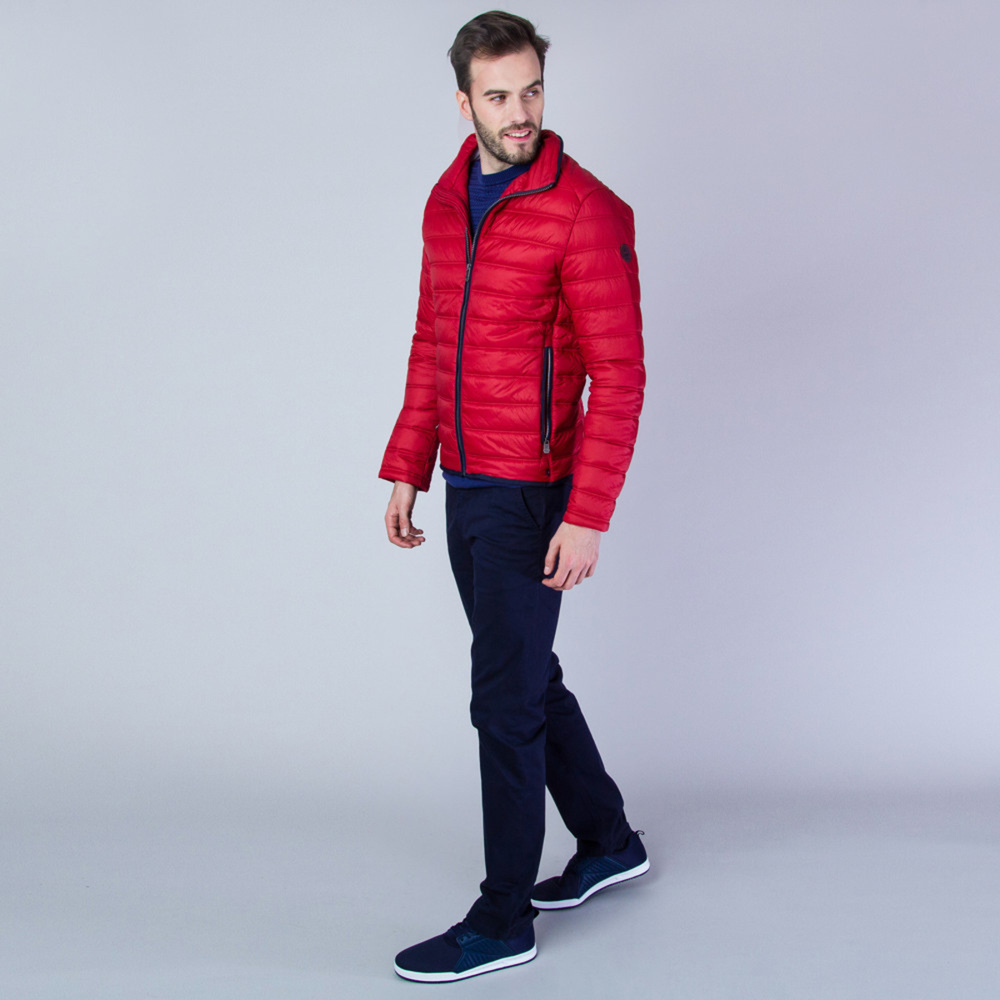 Men's quilted jacket in red Redpoint 11357
