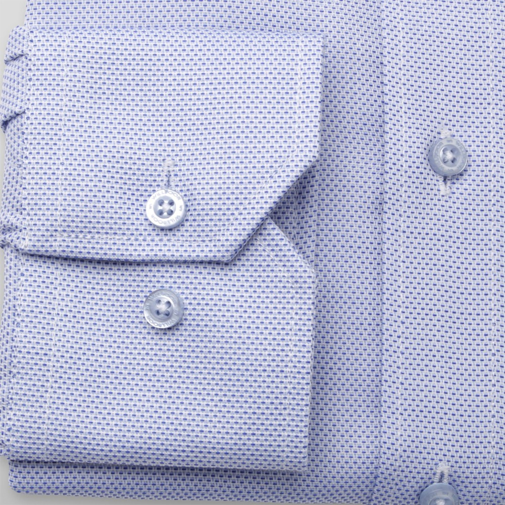 Men's Slim Fit shirt in pale blue with fine pattern 11373