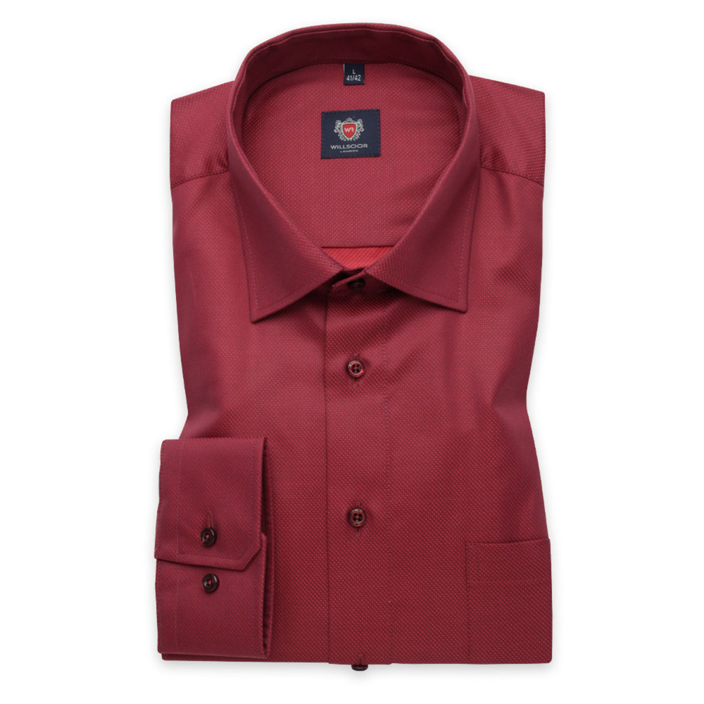 Men's classic shirt in red color 11673