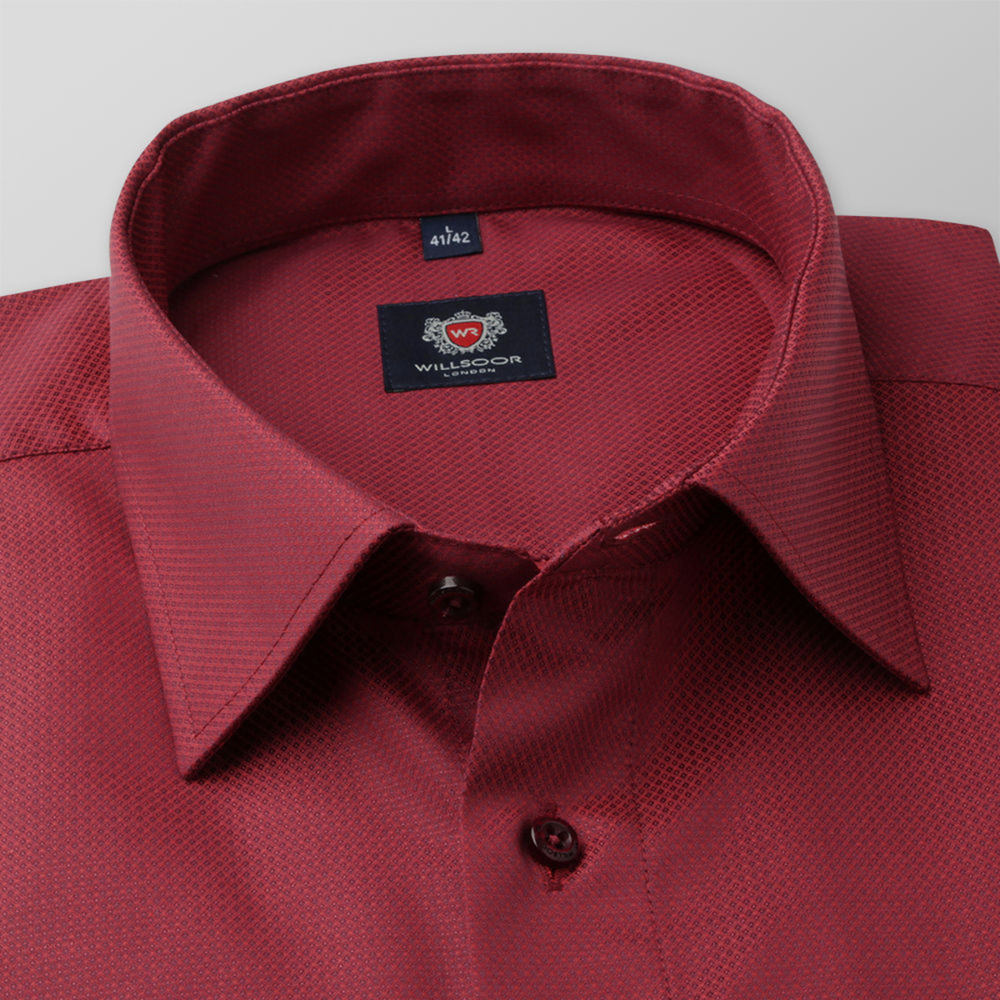 Men's classic shirt in red color 11677
