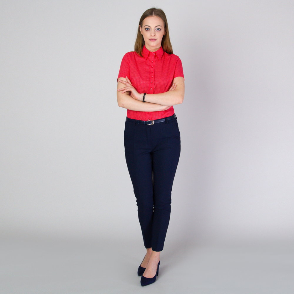 Women's shirt in red 11757