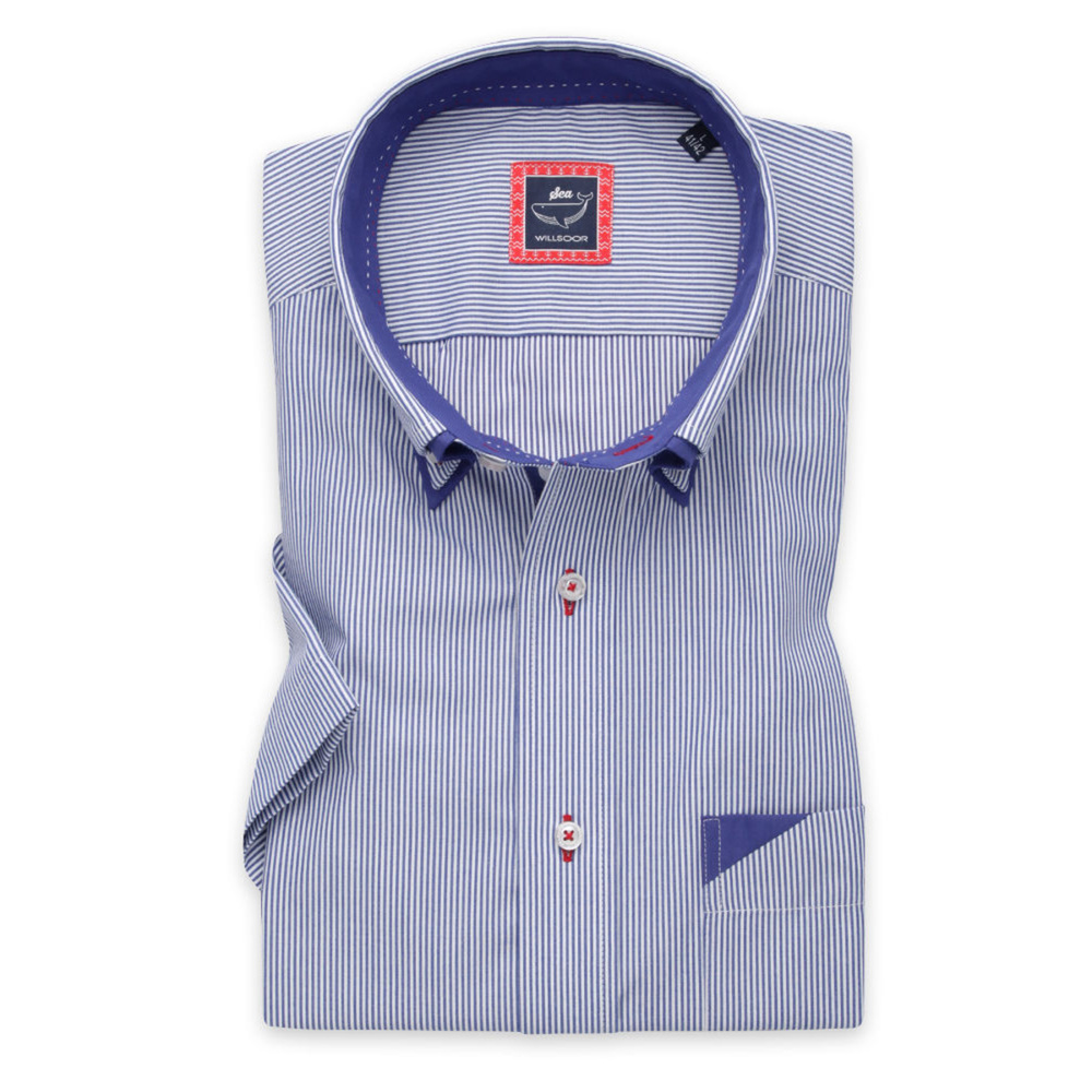 Men's classic shirt with fine striped pattern 11887