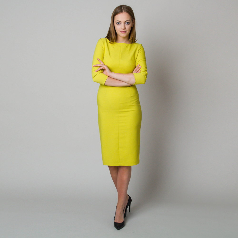 Midi dress in lime color 11900