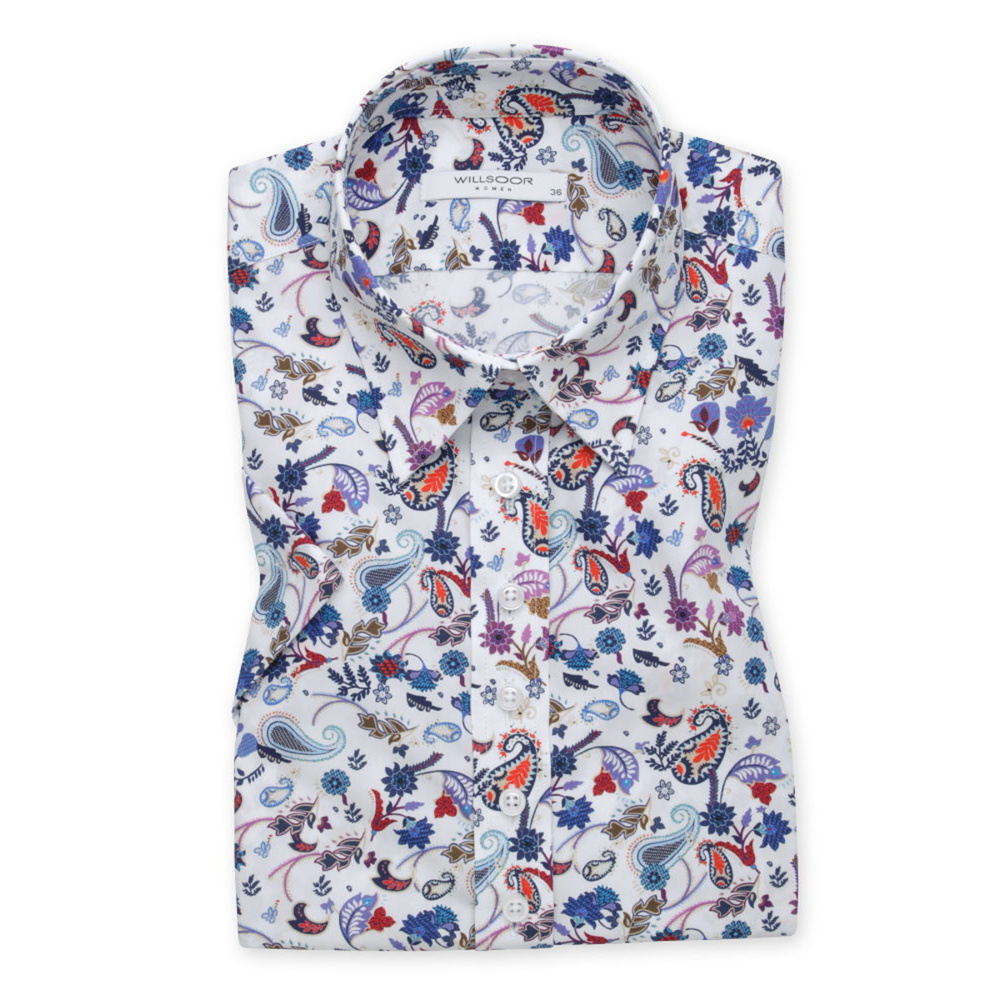 Women's shirt with colorful floral pattern 11917