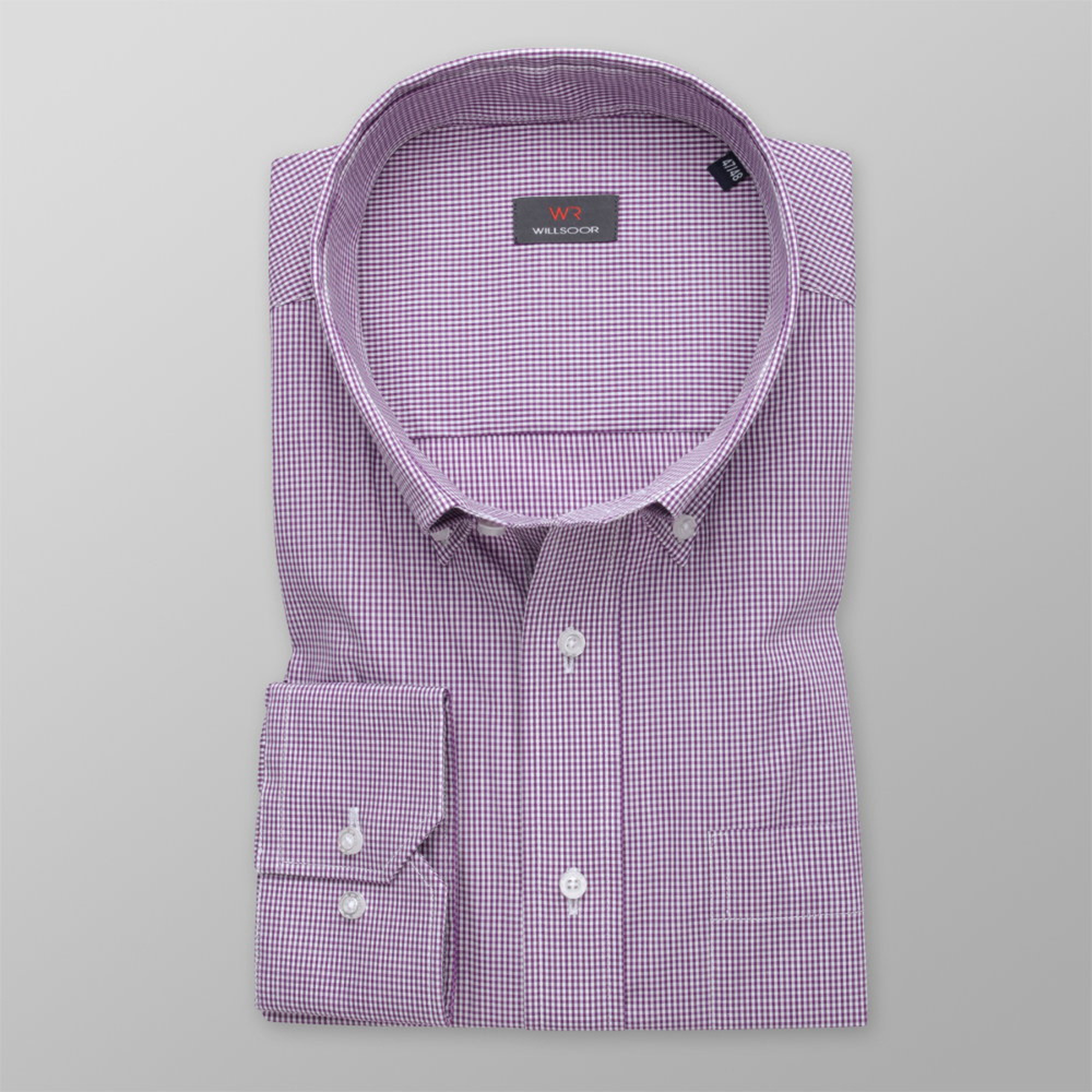Men's shirt classic with delicate purple pattern 11966